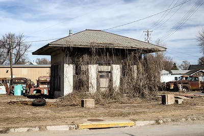 Gas station along the Lincoln Highway in Gibbon, NE.