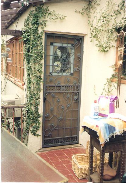 Rear screen on kitchen door - Stewart residence, Monrovia, CA