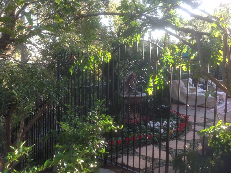 Wrought iron gate - San Rafael Ave., Pasadena, CA