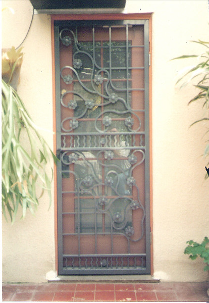 Rear screen door - Stewart residence, Monrovia, CA