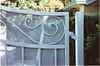 Gate detail - Parlopino residence, Arcadia, CA