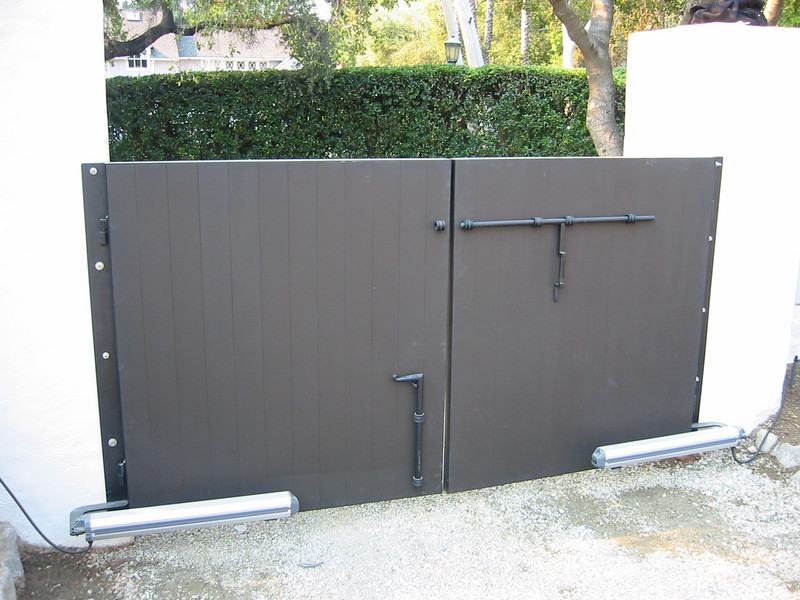 Wooden gate - Bell residence, Pasadena, CA