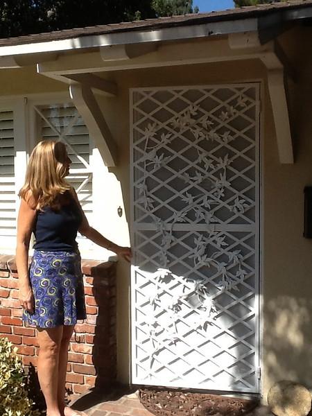 Custom screen door - La Canada, CA
