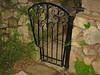 North garden gate - Muerer residence - La Canada, CA