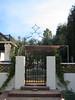 Garden entrance gate - Bell residence, Pasadena, CA