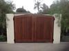 Trash Gate; Miller residence, San Marino, CA