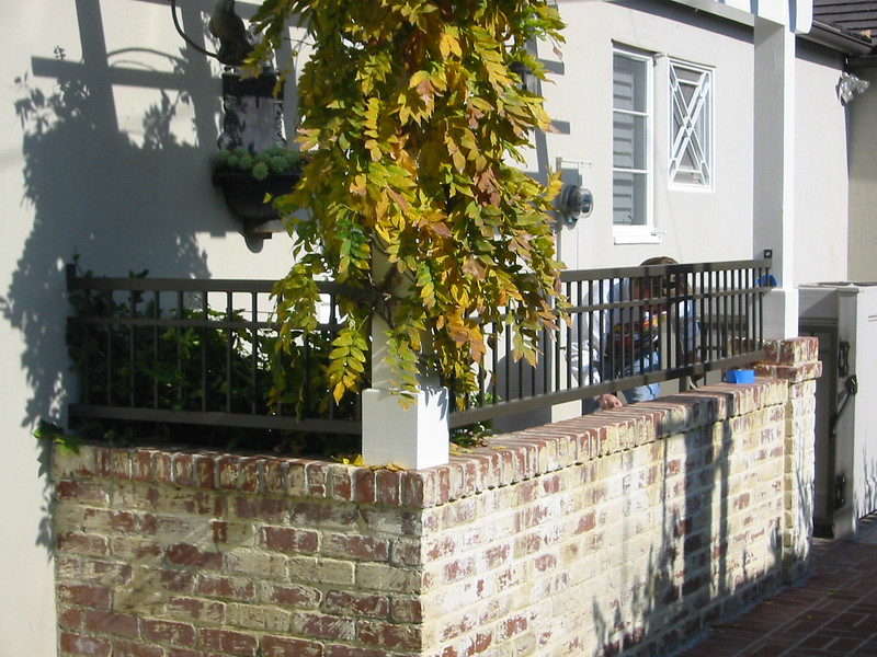 Walk-way fence - White residence, Pasadena, CA