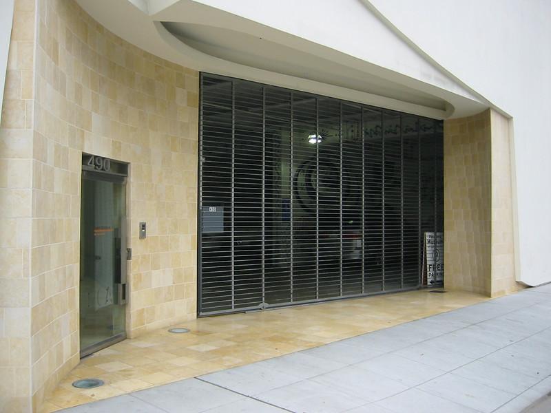 Door hardware, address numbers, and garage gate (12' x 22') - Pasadena Museum of California Art, Pasadena, CA