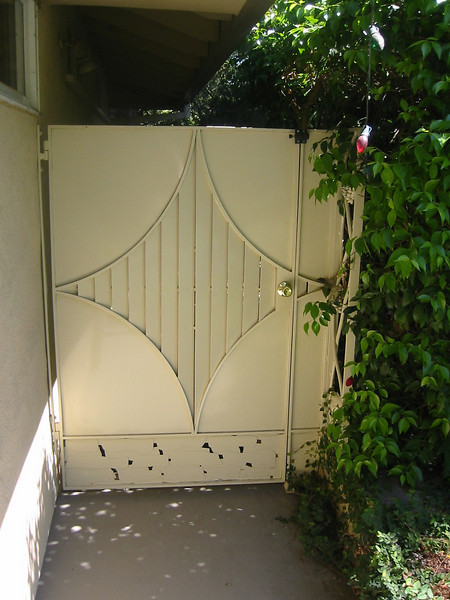 Side gate - Thompson residence, Altadena, CA