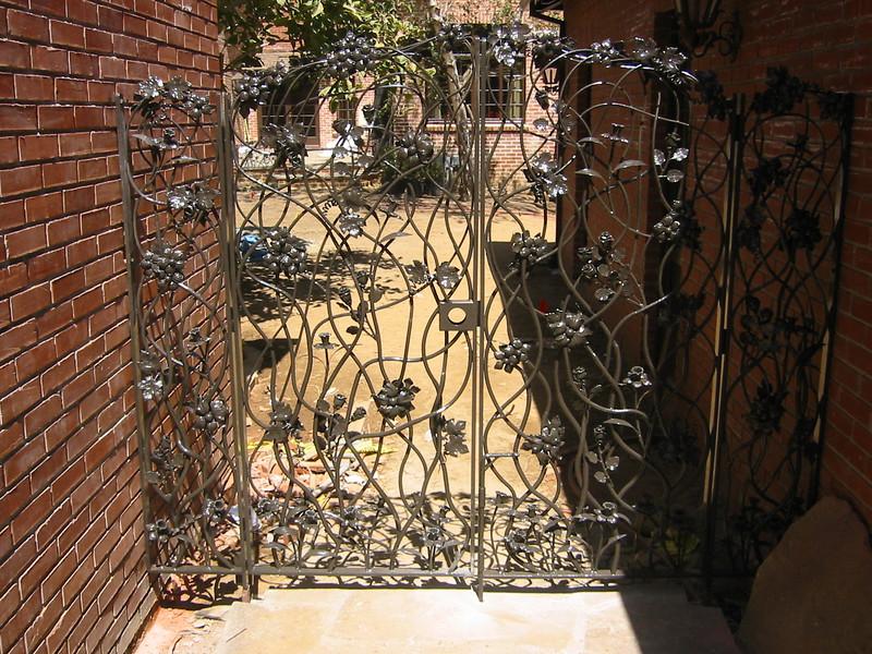Pool entry gate - Oder residence, San Marino, CA