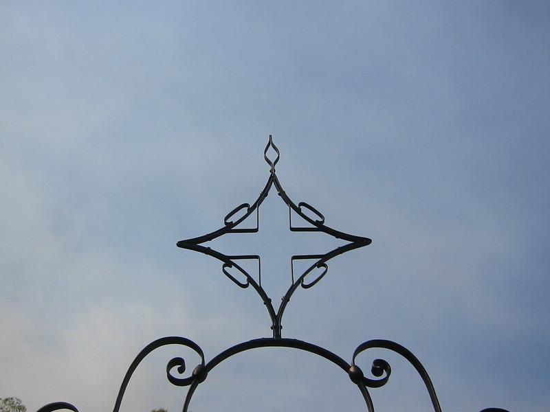 Garden entrance gate detail - Bell residence, Pasadena, CA
