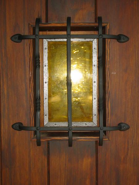 Door grille - Pearson residence, Pasadena, CA
