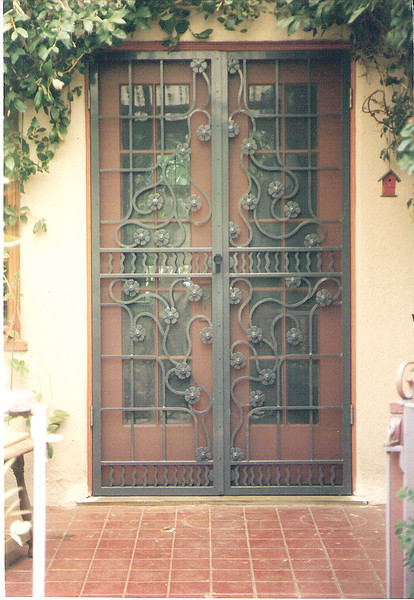Rear screen for double doors - Stewart residence, Monrovia, CA