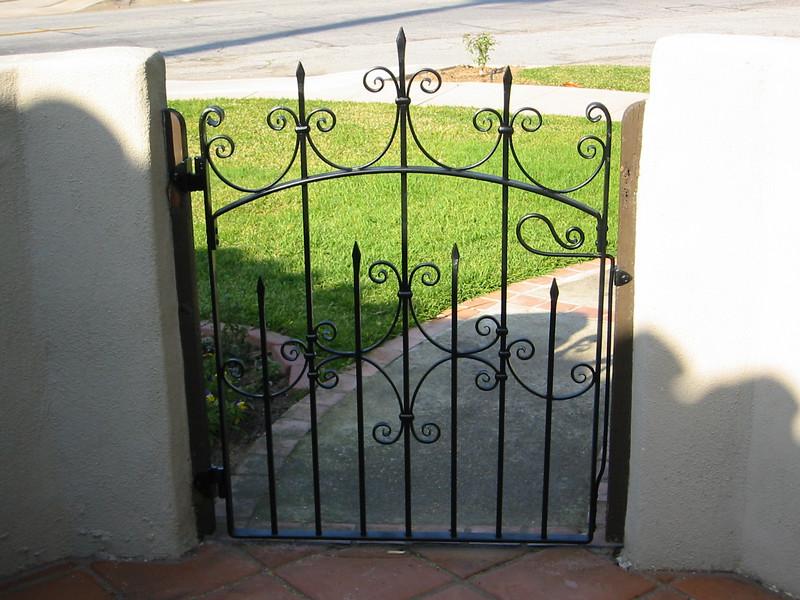Front gate - Meyer residence, San Marino, CA