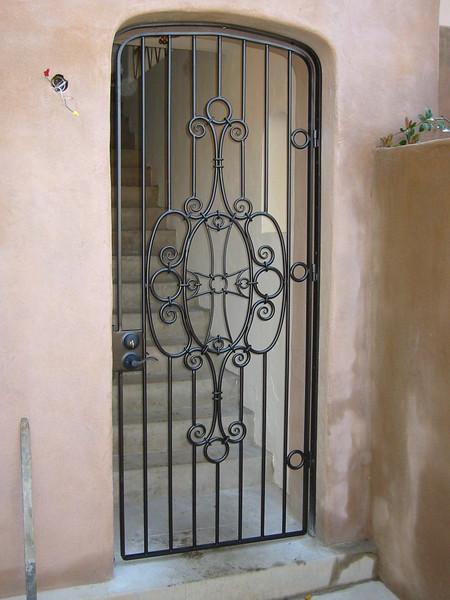 Rear entry gate - Hurd residence, Pasadena, CA