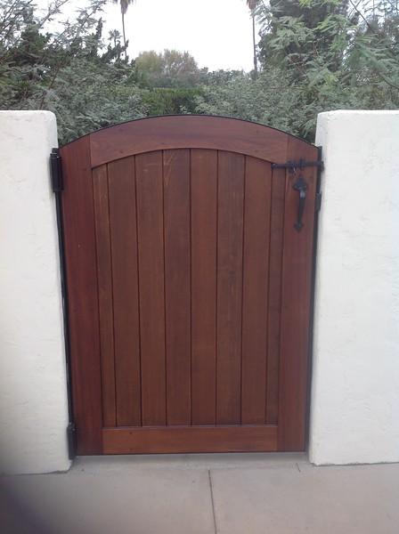 Side Yard Gate; Miller residence, San Marino, CA