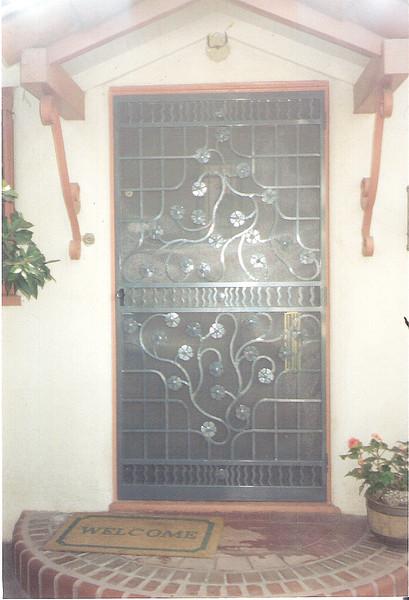 Front screen door - Stewart residence, Monrovia, CA