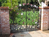 Backyard entry gate - Oder residence, San Marino, CA