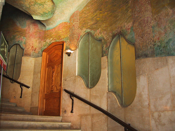 Casa Mila stairs detail