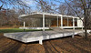 Dr. Edith Farnsworth House, Southwest view<br /> Ludwig Mies van der Rohe, 1951<br /> Plano, Illinois