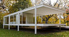 Dr. Edith Farnsworth House, View from North West<br /> Ludwig Mies van der Rohe, 1951<br /> Plano, Illinois