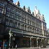 May 2012. Glasgow city centre. Central Station, fronted by the Central Hotel, in Gordon Street. The hotel was designed by Robert Rowand Anderson in 1879. My guidebook says: 'a refined amalgam of early Italian, Jacobean and northern European elements'.