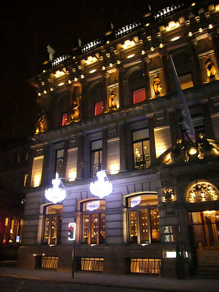 January 2011. The Corinthian, a restaurant and nightclub, Ingram Street, Glasgow, Scotland.
