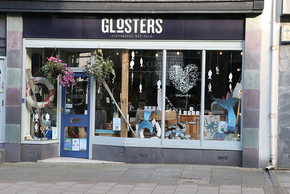 Seaside themed window at Glosters<br /> 8 August 2016