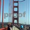 People celebrate the 75th anniversary of the Golden Gate Bridge in San Francisco, California, on May 27, 2012. UPI/David Yee