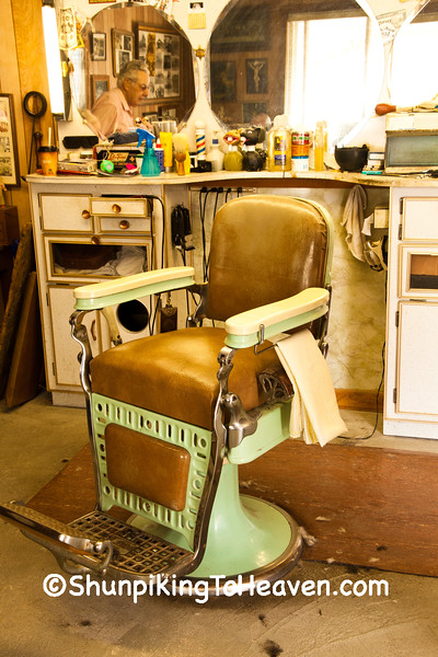Antique Barber Chair, Markleville, Indiana