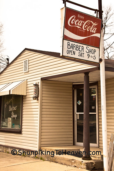 McKinley's Barber Shop, Markleville, Indiana