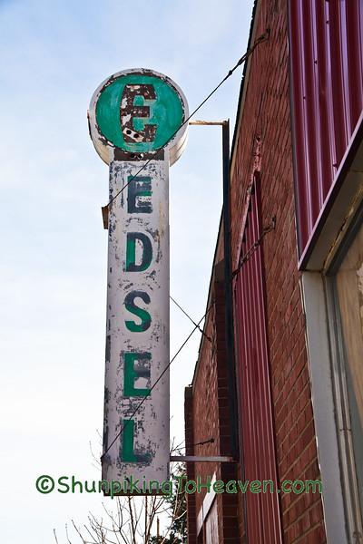 Vintage Edsel Sign at Abandoned Dealership
