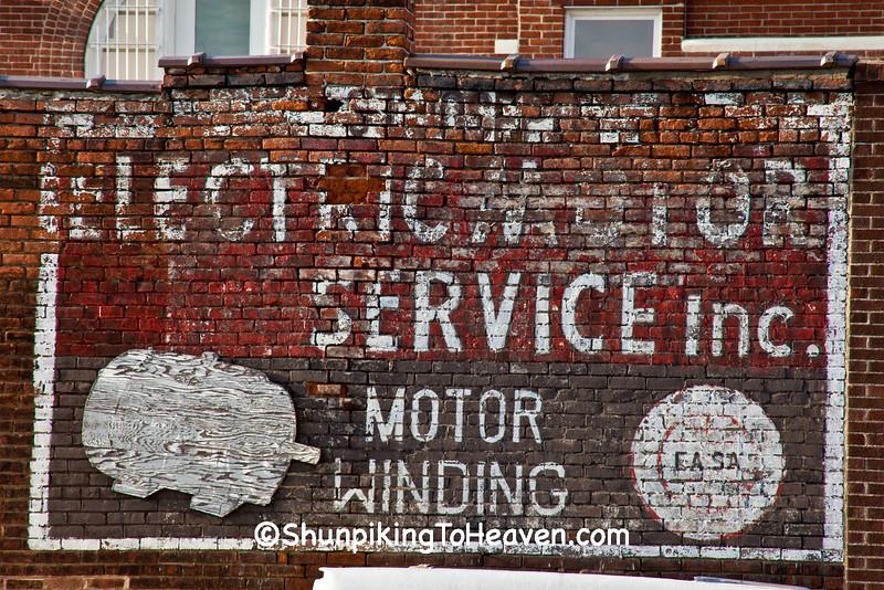 Electric Motor Service Sign, Buchanan County, Missouri