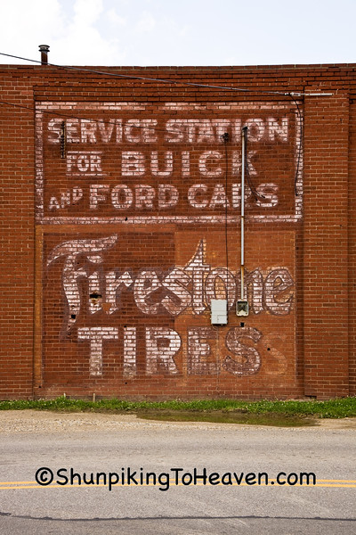 Service Station Sign, Fairfield County, Ohio