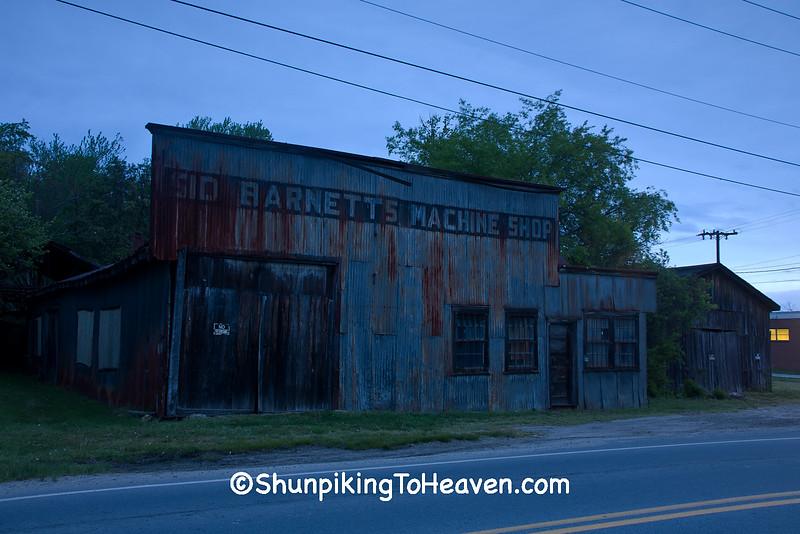 Sid Barnett's Machine Shop at Dawn, Transylvania County, North Carolina