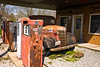 Vintage Truck and Pumps, Henry's Rabbit Ranch on Historic Route 66, Staunton, Illinois