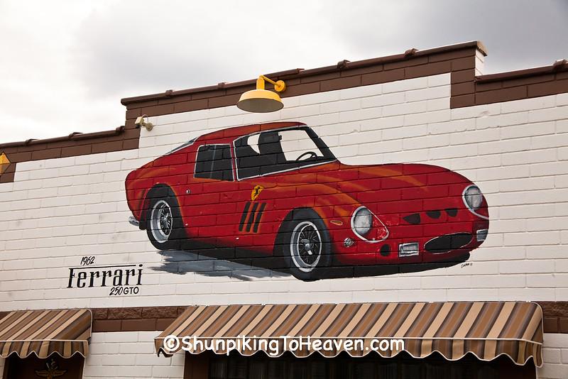 Mural of 1962 Ferrari 250 GTO, Dwight, Illinois