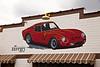 Mural of 1962 Ferrari 250 GTO, Replica Shell Service Station, Route 66, Dwight, Illinois