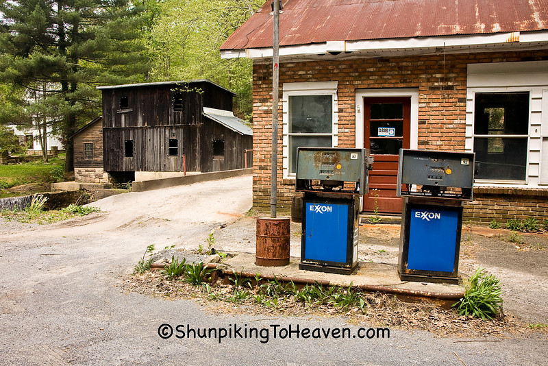 Abandoned Gas Station at Cotton Hill Mill, Fayette County, West Virginia