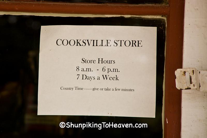 Sign on Door of Cooksville Store, Rock County, Wisconsin