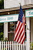 American Flag at Cooksville General Store, Rock County, Wisconsin