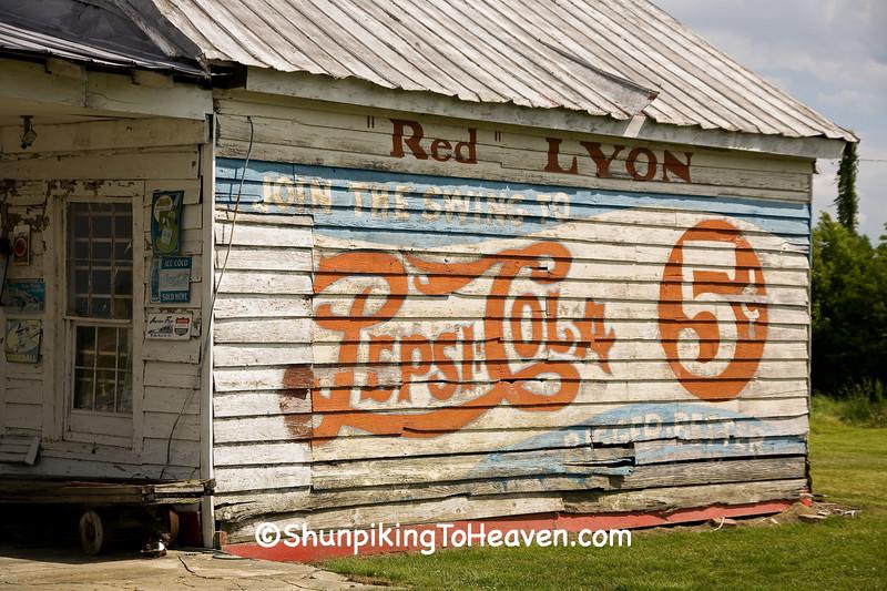 Pepsi Cola Sign, Greene County, North Carolina