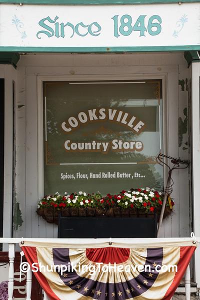 Window of Cooksville General Store, Rock County, Wisconsin
