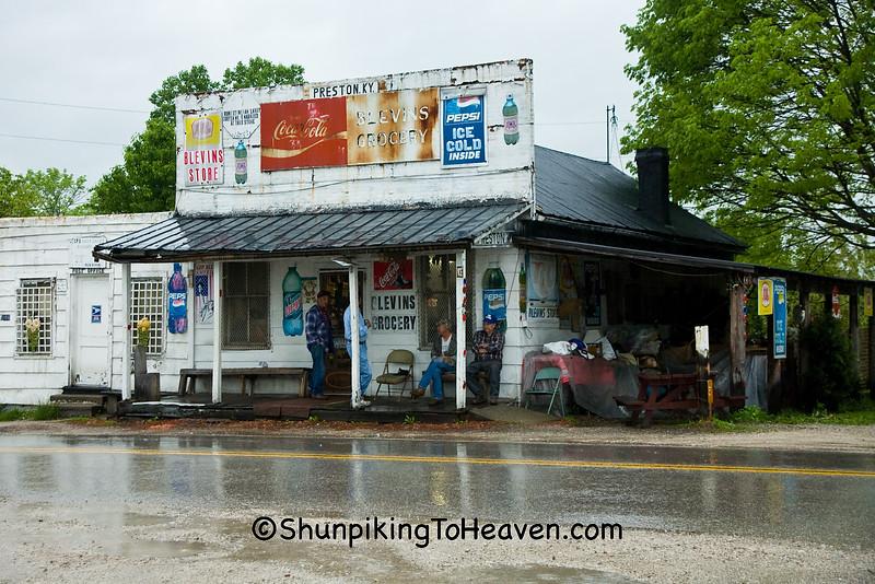 Rainy Sunday Morning at Blevins Grocery, Preston, Kentucky