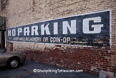 No Parking Sign at Modern Laundry, Maysville, Kentucky