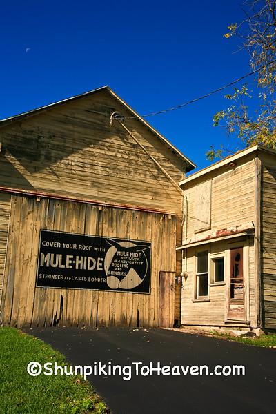 Mule-Hide Advertising on Lumber Building