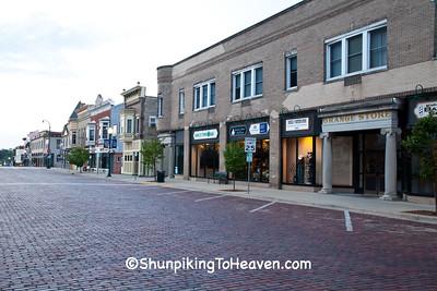 The Grange Store and Brick Street, Evansville, Wisconsin