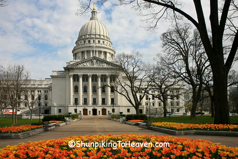Spring at the State Capitol, Madison, Dane County, Wisconsin