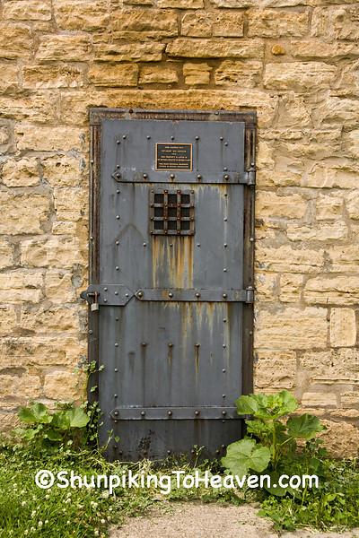 Door of Delmar Calaboose, Clinton County, Iowa