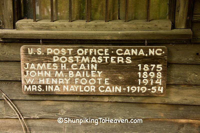 Post Office at the Cana Store, Davie County, North Carolina